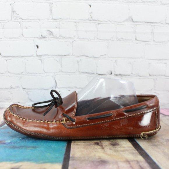 LL Bean Boat Moccasin Loafer Slip On Shoes Sz 7 D